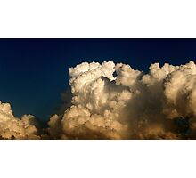 CUMULUS CLOUDS IN HIGH CONTRAST Photographic Print