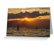 Sunset at Zephyr Cove Greeting Card