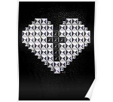 studded heart and cross Poster