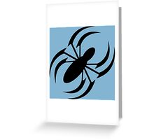 Slanted Spider Greeting Card