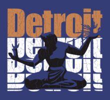 Vintage 1980s DETROIT (Distressed Design) by robotface