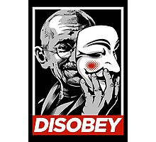 Disobey II Poster Version Photographic Print