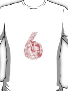 Number 6 - Red Version. T-Shirt