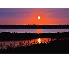 Sunset Over The Wetlands Photographic Print