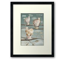 Cats in Cups Framed Print