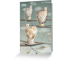 Cats in Cups Greeting Card