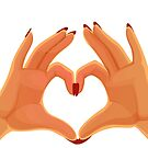 Hands Heart Love Sign by CroDesign