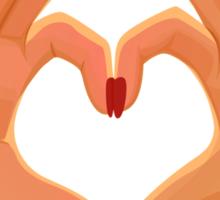 Hands Heart Love Sign Sticker