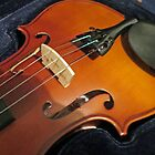 Violin Bridge and F Holes by MidnightMelody