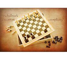 Chess ~ Simplicity... Photographic Print