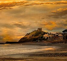 Criccieth Castle at Sunset.  by Irene  Burdell