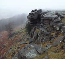 Stanage Edge, January Drizzle by wiggyofipswich