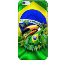 Toco Toucan with Brazil Flag iPhone Case/Skin