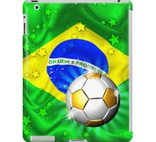 Brazil Flag Gold Green and Soccer Ball iPad Case/Skin