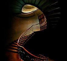 Spiral staircase in green and brown by JBlaminsky