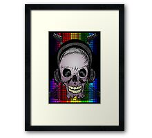 Skull, Guitars and Rock and Roll! Framed Print