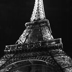 Eiffel Tower in Black & White by Michael Matthews