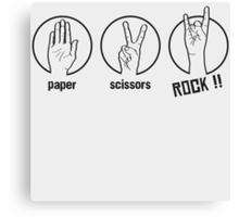 Paper Scissors Rockk Canvas Print