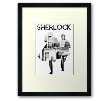 Monochrome Street Sherlock Framed Print