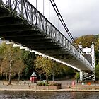 Under Chester Suspension Bridge by AnnDixon