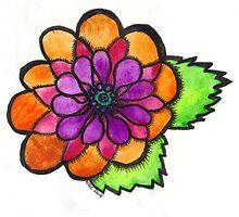 Watercolor Wildflower 2 by Kellee Carr