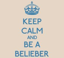 Keep Calm and be a Belieber (Cyan) T-Shirt
