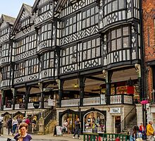 Shopping in Chester, England by Elaine Teague