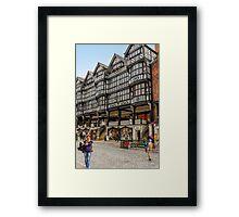 Shopping in Chester, England Framed Print