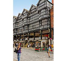 Shopping in Chester, England Photographic Print