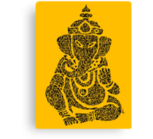 Ink Rain Ganesha Canvas Print