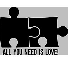 All you need is love Photographic Print