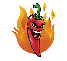 Evil red hot chili pepper Photographic Print
