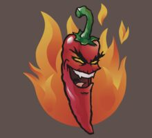 Evil red hot chili pepper Kids Clothes