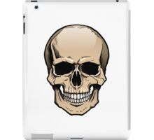 Human skull frontal view iPad Case/Skin