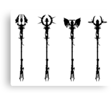 Elemental Staffs [CoD Zombies] Canvas Print