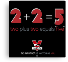 Two Plus Two Equals Five Canvas Print