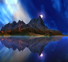 Moonrise Accension Island. by AlienVisitor