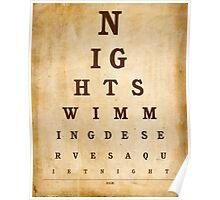 R.E.M. - Nightswimming Poster