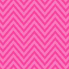 Zigzag (Chevron), Stripes, Lines - Pink by sitnica
