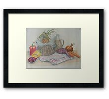 Still Life with Baby Pineapple Framed Print