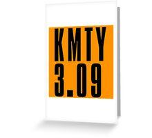 KMTY - Black Greeting Card