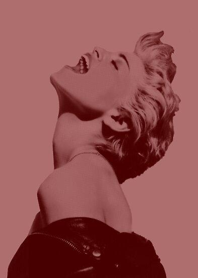 Madonna Pop Goddess (Red Variation) by Ged J