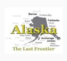 Alaska State Pride Map Silhouette  Kids Clothes