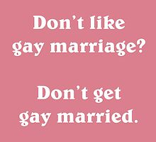 Gay marriage (White) by supalurve