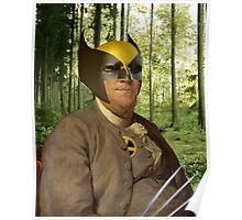 Wolverine + Ben Franklin Mash Up Poster