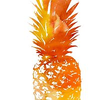 Sunset watercolour pineapple by float