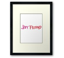Boyfriend Framed Print