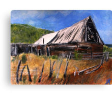 Old Barn New Mexico Desert Contemporary Acrylic Painting Canvas Print