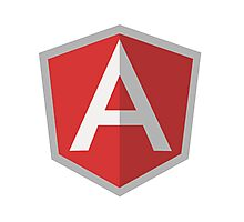 AngularJS logo Photographic Print