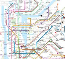 New York City subway map by Jug Cerovic